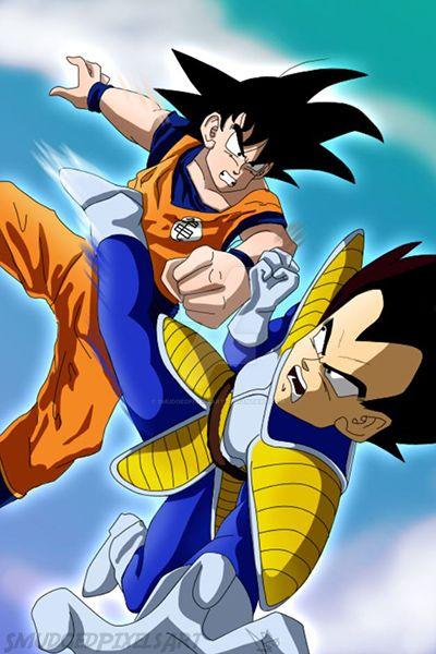 Goku vs Vegeta by SmudgedPixelsArt