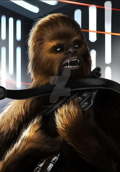 Chewbacca by SmudgedPixelsArt