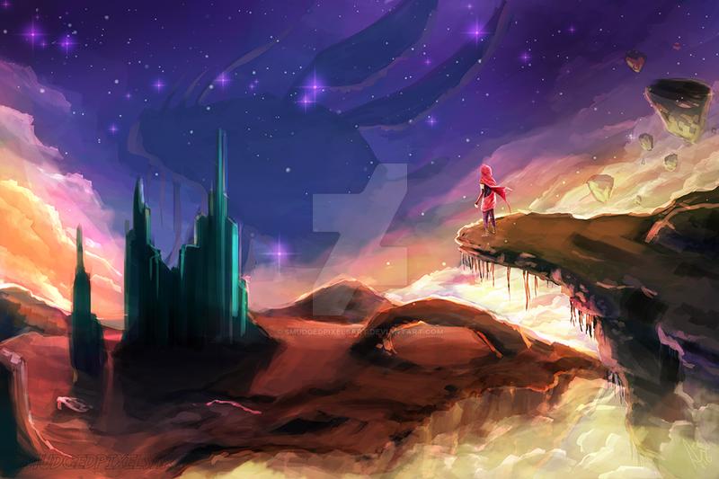 Worlds Adrift by SmudgedPixelsArt