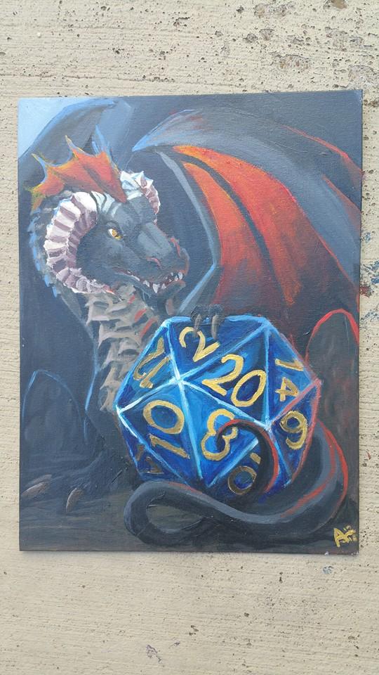 D20 Dragon by SmudgedPixelsArt