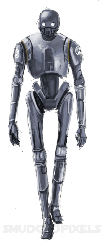 K-2SO Speedpaint :D by SmudgedPixelsArt