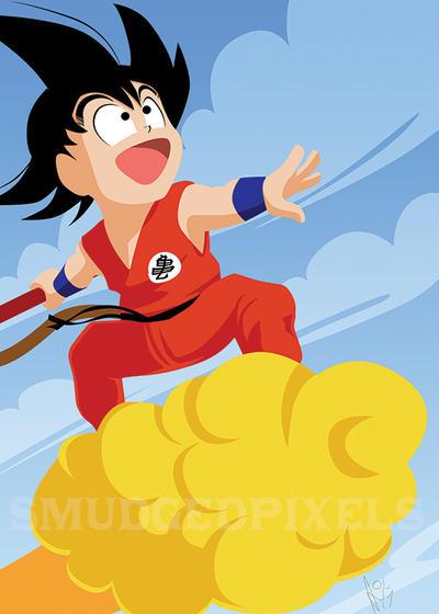 Goku by SmudgedPixelsArt