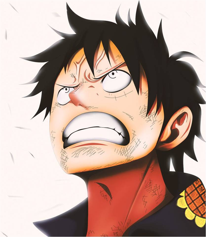 angry luffy by mada654 on deviantart
