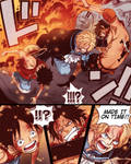SABO SAVING ACE AND LUFFY FROM AKAINU COLORED !!!