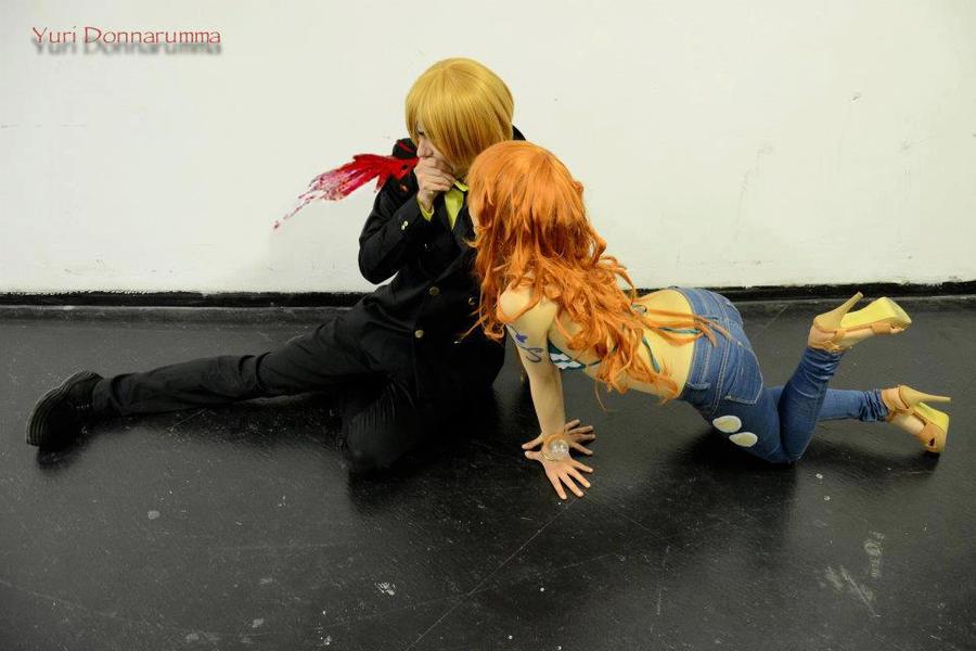 Can you resist,Sanji-kun? :P by Mellorineeee