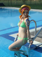 Nami summer version,cosplay One Piece by Mellorineeee