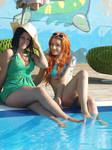 Nami and Robin,summer version cosplay,One Piece