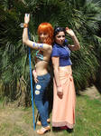 Robin and Nami 2YL,One Piece cosplay