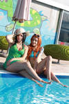 Nico Robin and Nami vacation,One Piece cosplay