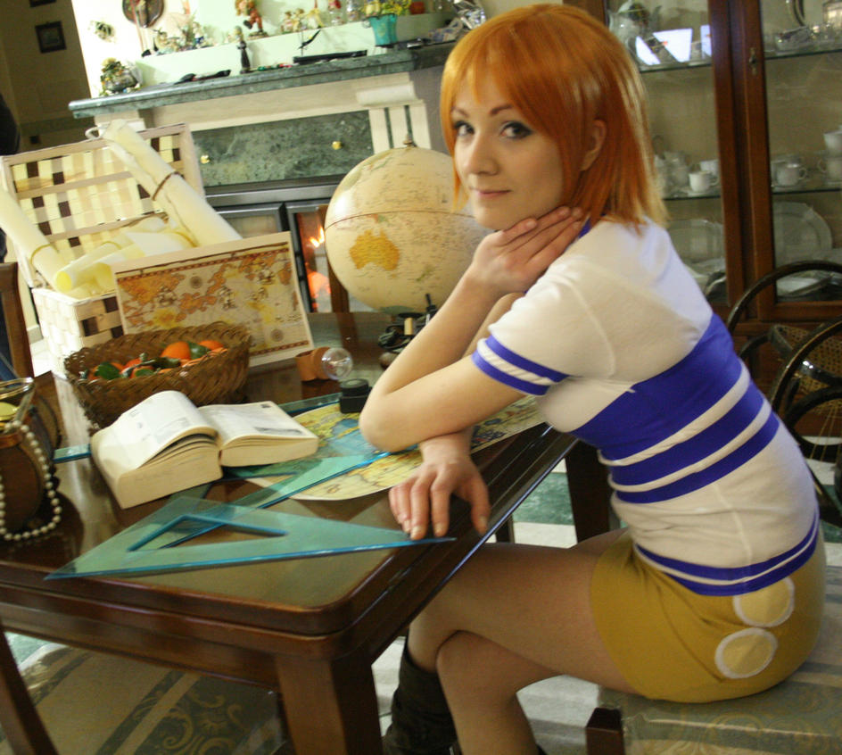Nami cosplay , East Blue , One Piece by Mellorineeee
