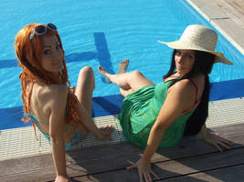 Robin and Nami,vacation , One Piece cosplay