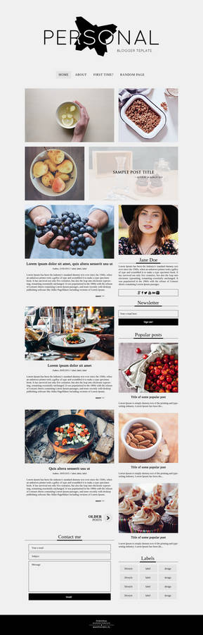 Personal [blogger template project]