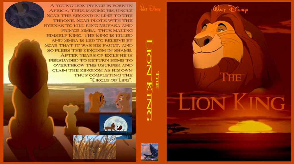 The Lion King Cover DVD by dyb on DeviantArt