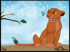 Sarabi and Butterflies by dyb