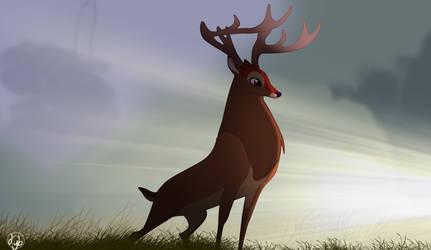 Crown Deer by dyb