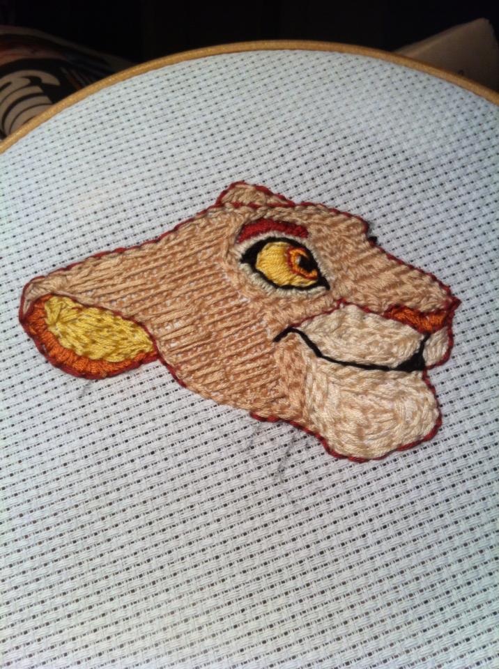 Sarabi Cub Embroidery by dyb