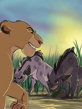 Hyenas in The Pridelands