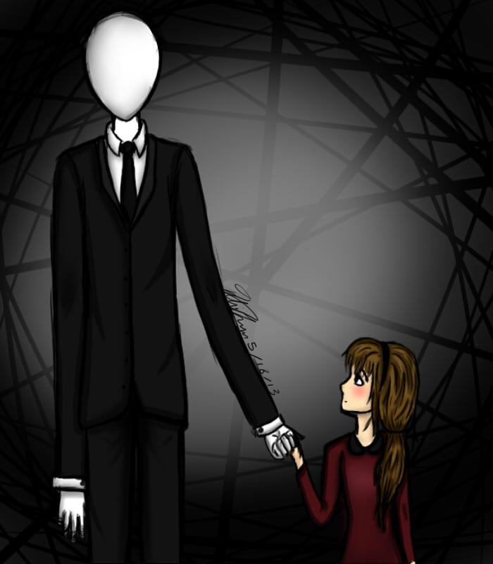 Slender man and girl