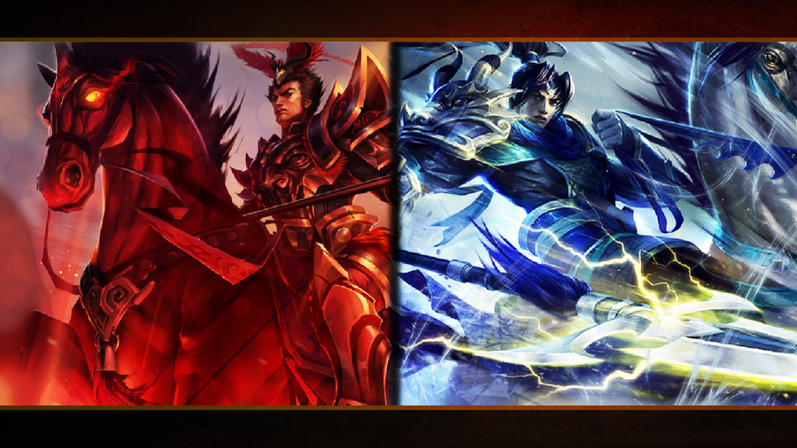Warring Kingdoms Xin Zhao and Jarvan IV wallpaper by MisterH15