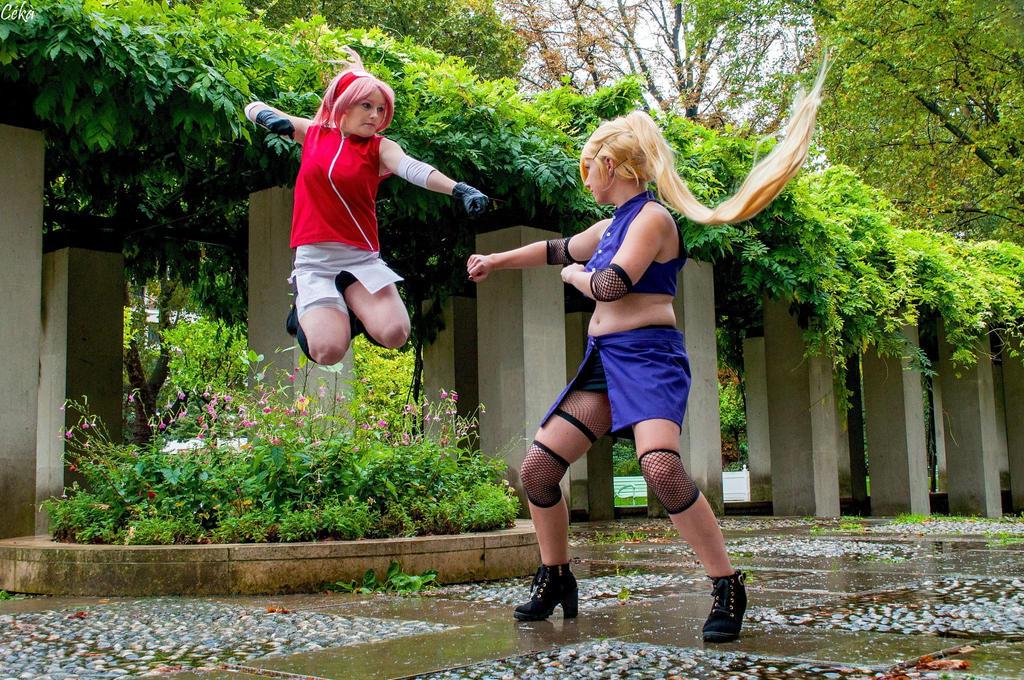 Ino VS Sakura by Hiyori29