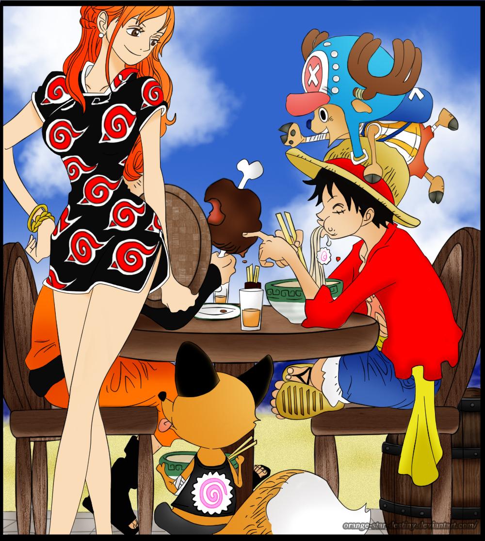 One Piece 766- Portada Dedicada A Naruto By Orange-star