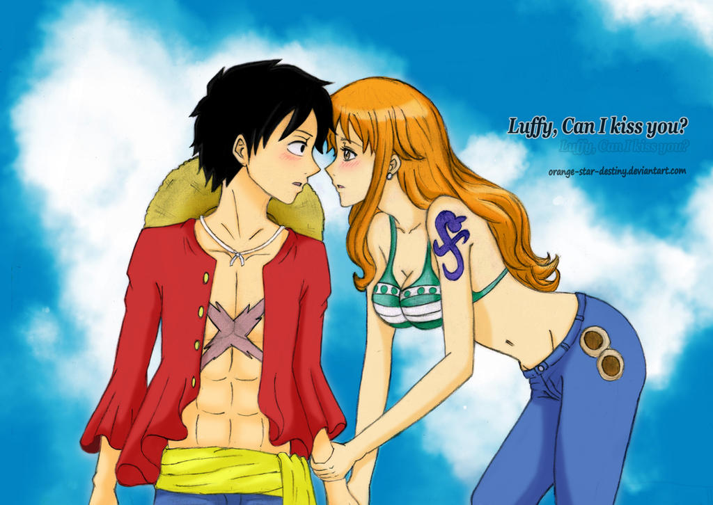 naked luffy and nami