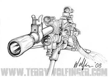Big Gun by WolfieArtGuy