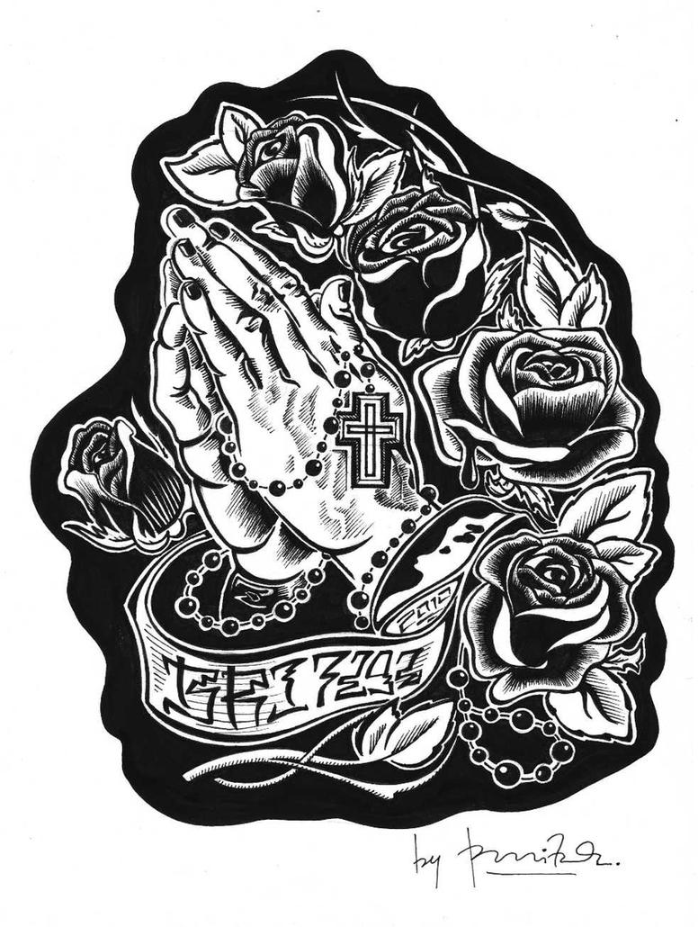 Praying Hands Tattoo Design Picture 3
