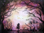aceo evening Glow by dragonflywatercolors