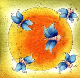 butterflys moondance by dragonflywatercolors