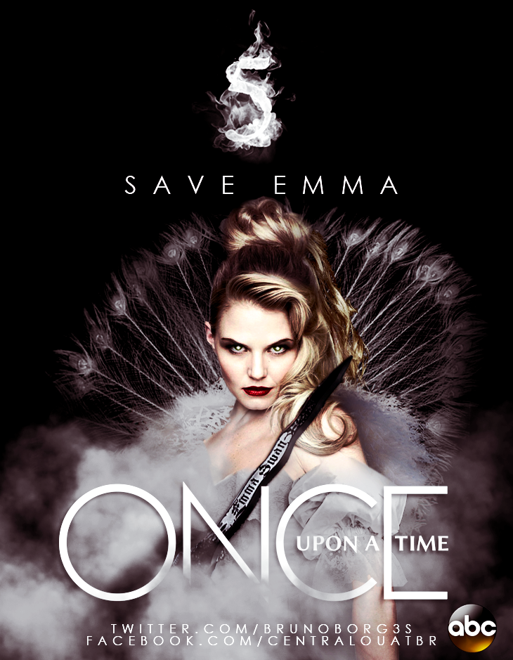 Once Upon A Time Season 3 Poster Emma Dark Swan/Emma Swan Po...
