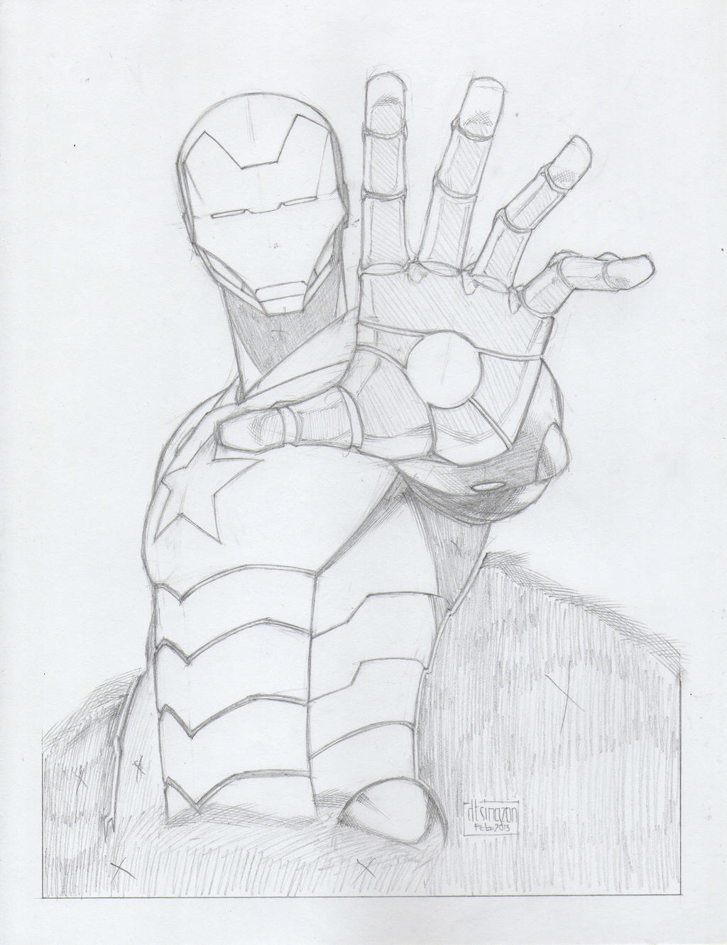 Iron Patriot Drawing Iron patriot [pencils] by