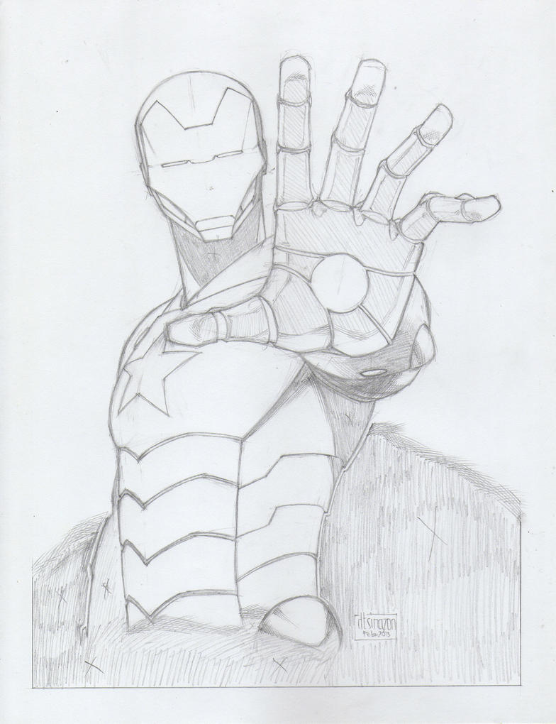 Iron patriot pencils by danielsingzon on deviantart for Iron patriot coloring pages