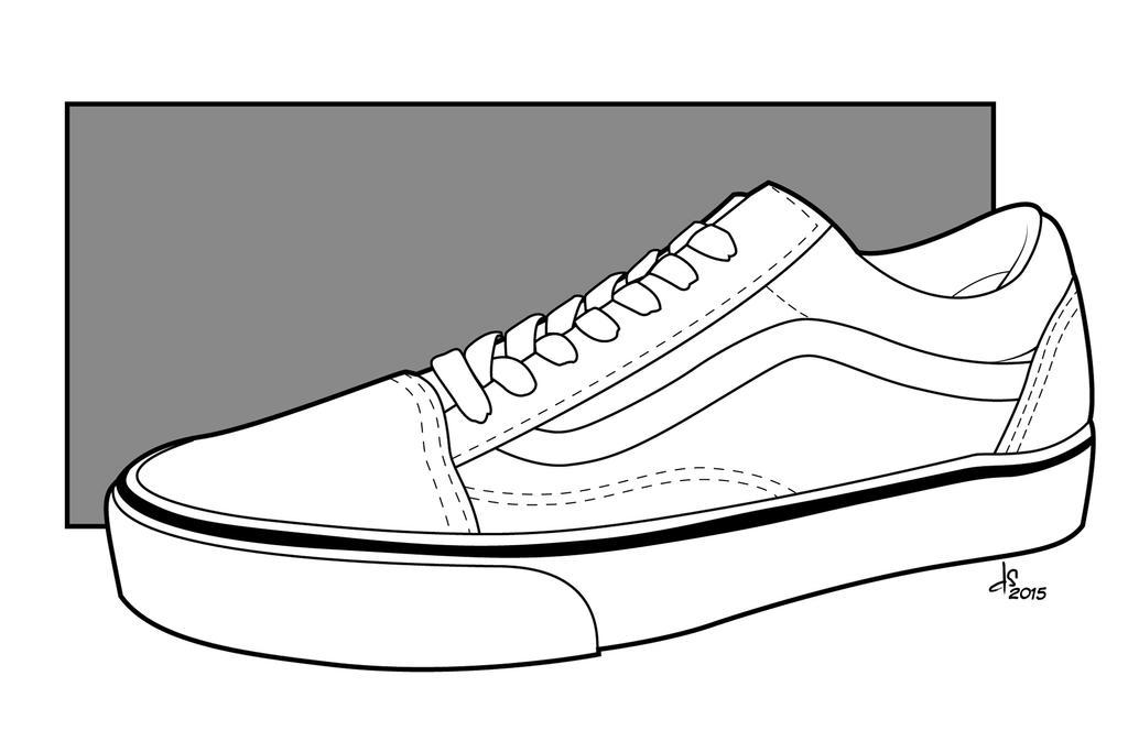 vans old skool sketch