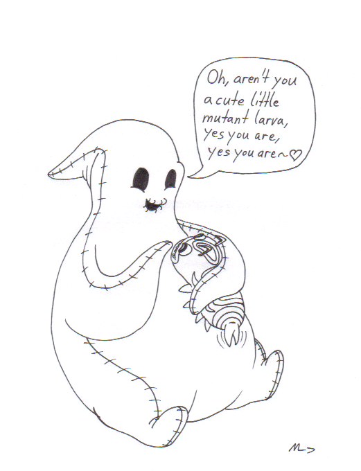oogie boogie and silkie by metalatias5 - Nightmare Before Christmas Coloring Pages 2