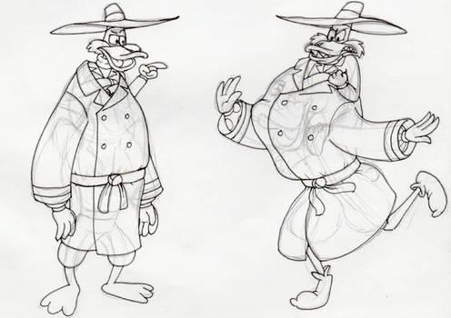 Smol Ducks in trenchcoats