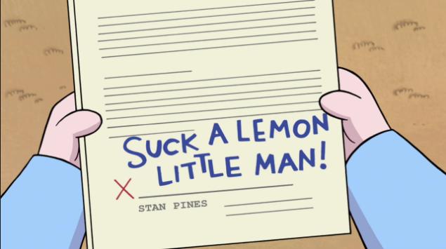 Suck a lemon
