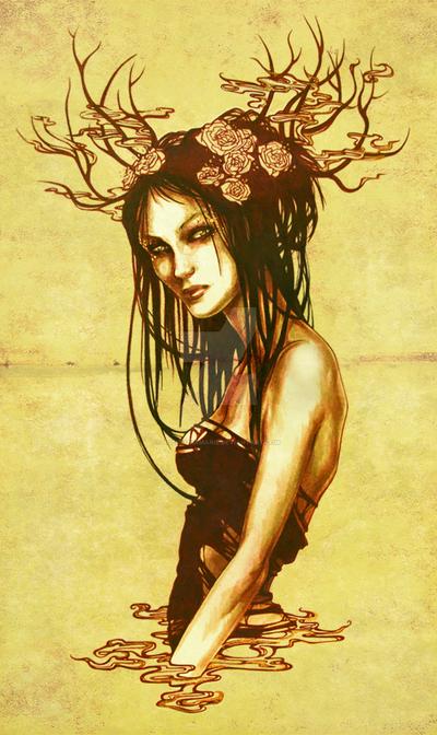 Golden Flower by LucitaniaMarie