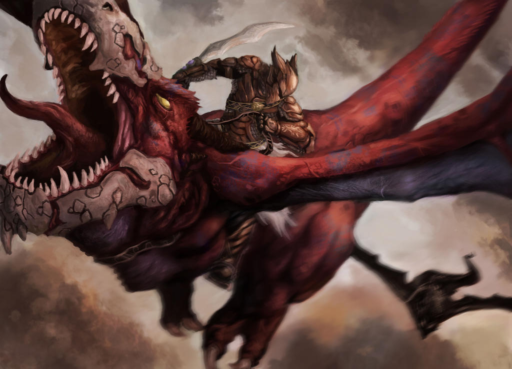 Tipos de Aventureiros Dragon_rider_by_sk8rnik-d5kgdim