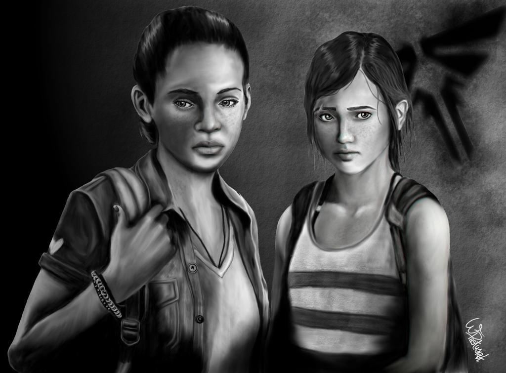 Ellie & Riley Kiss - The Last of Us Remastered - Left