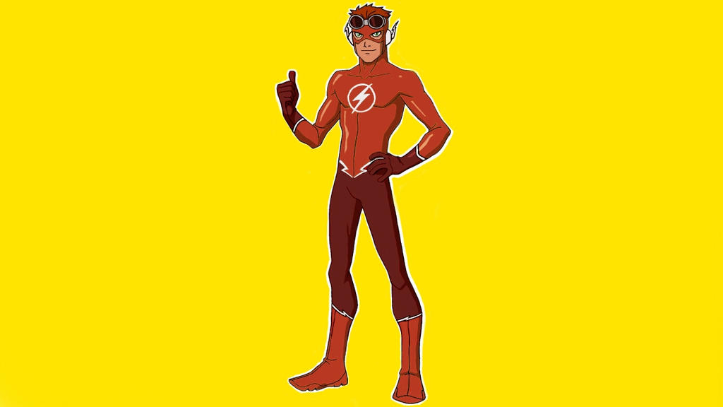 Young Justice Wally West Recolored DesignRebirth By