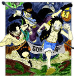 Luffy , Ace and Sabo