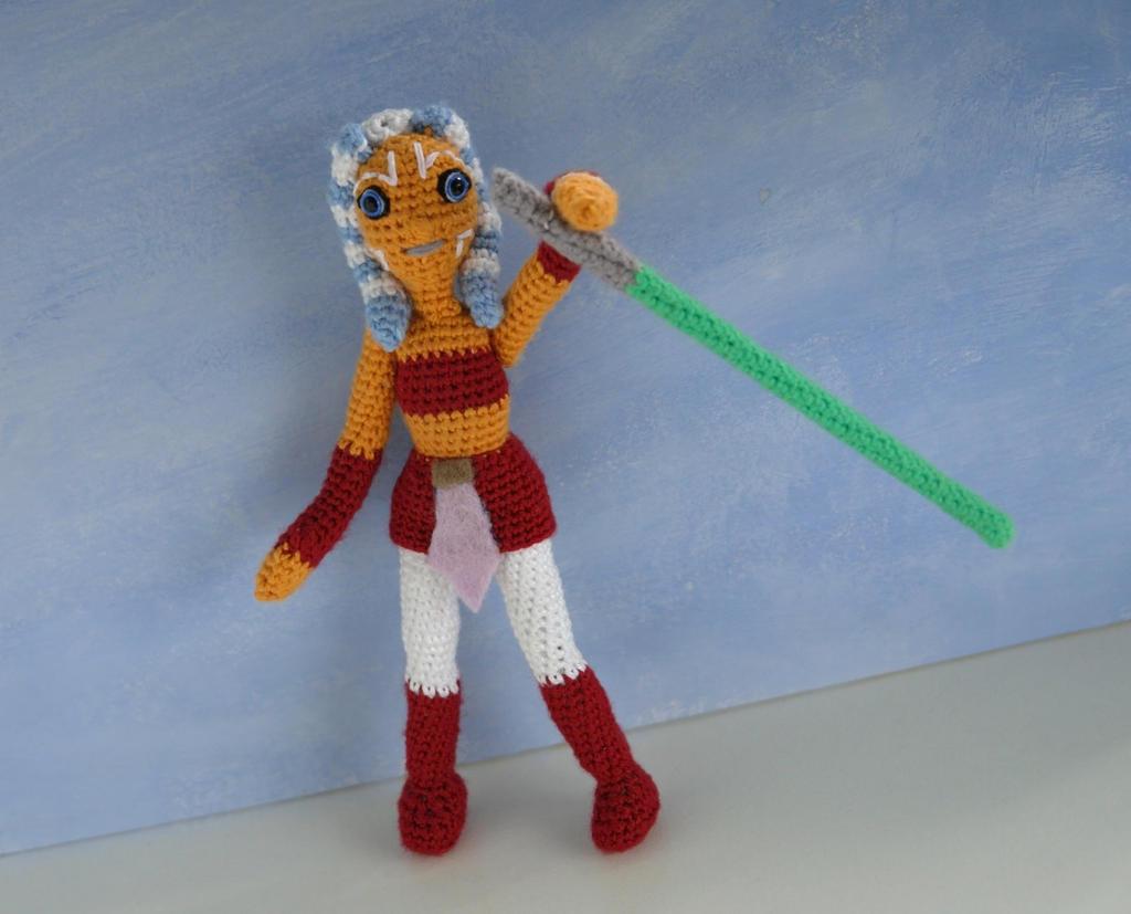 Amigurumi Star Wars : Star wars crochet amigurumi doll ahsoka tano by tinyalchemy on