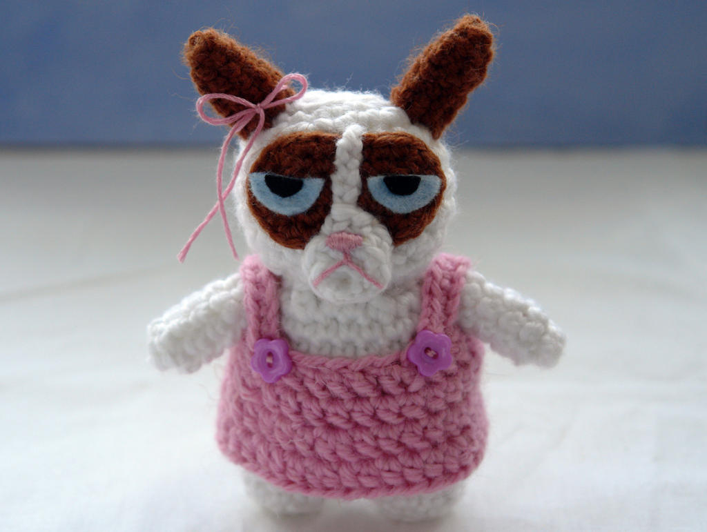 Grumpy Cat Amigurumi Pattern Free : Crochet amigurumi Grumpy Cat by tinyAlchemy on DeviantArt
