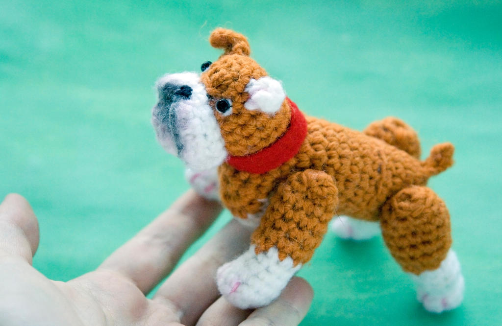 Amigurumi bulldog toy by tinyAlchemy on DeviantArt