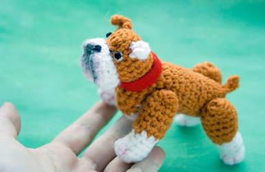 Amigurumi bulldog toy