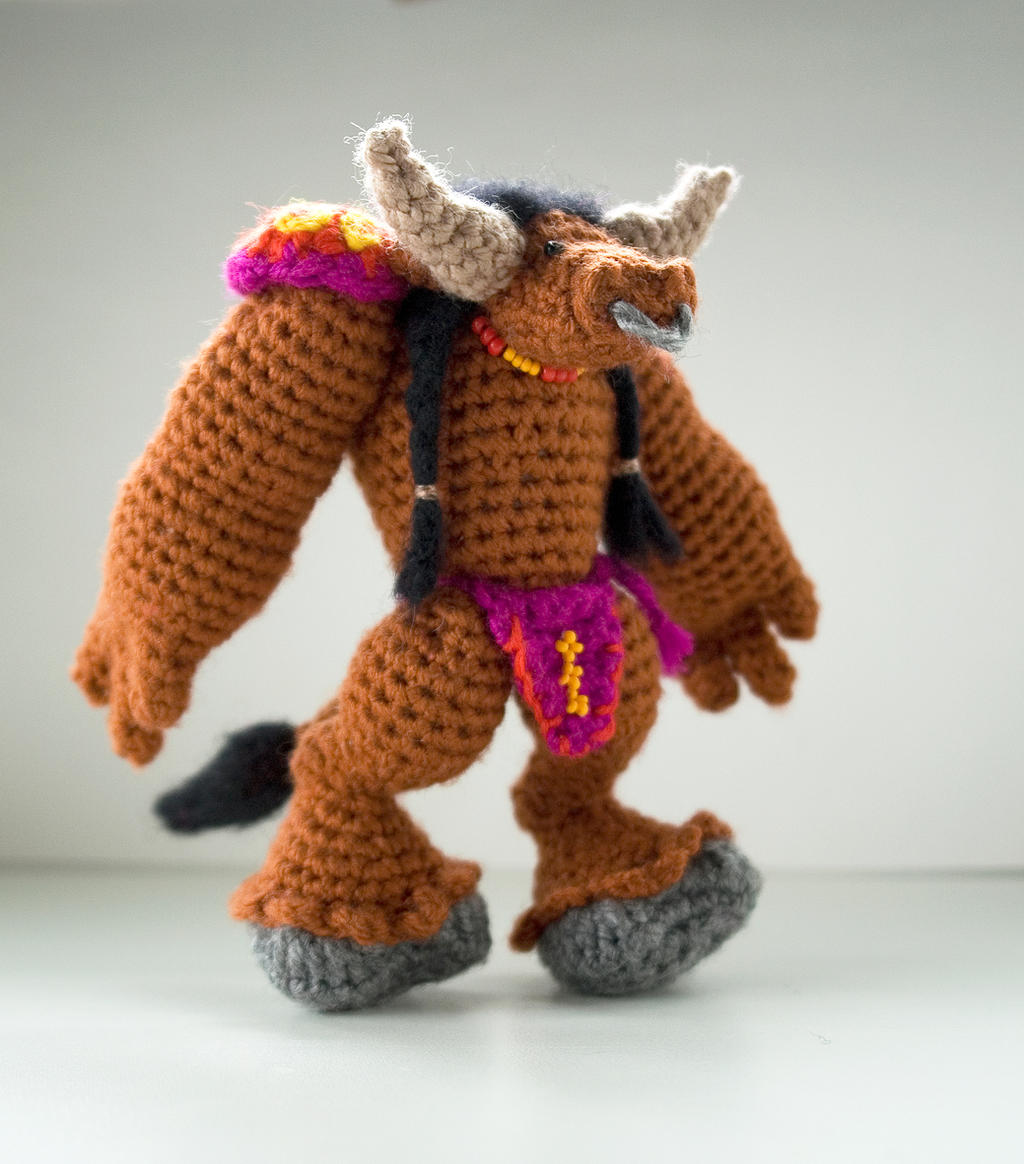 World Of Amigurumi : World of Warcraft: crochet amigurumi tauren by tinyAlchemy ...