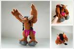 Crochet tauren from World of Warcraft: Collage