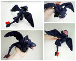 Toothless Dragon: crochet amigurumi doll