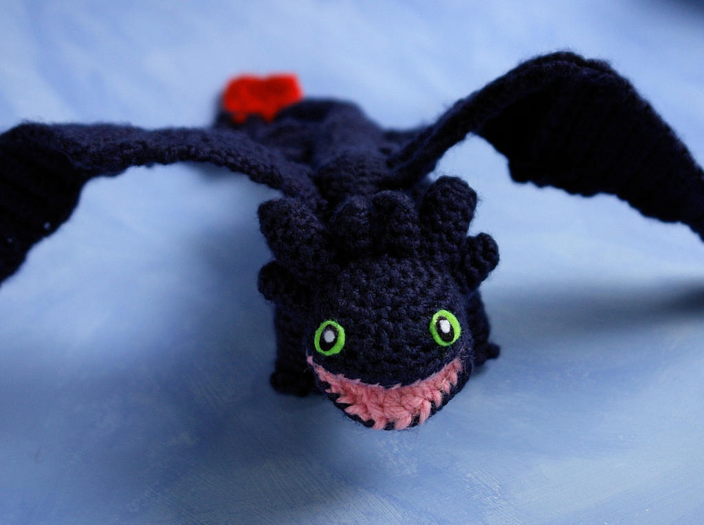 Free Crochet Patterns For Vintage Dolls : Crochet amigurumi Toothless, or Night Fury. by tinyAlchemy ...